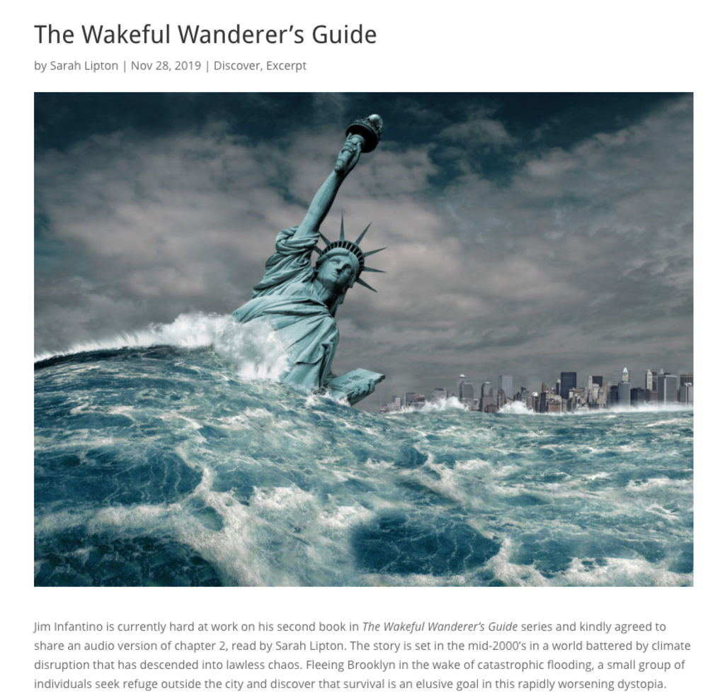screenshot of wakeful wanderer's guide page on epublishyourself
