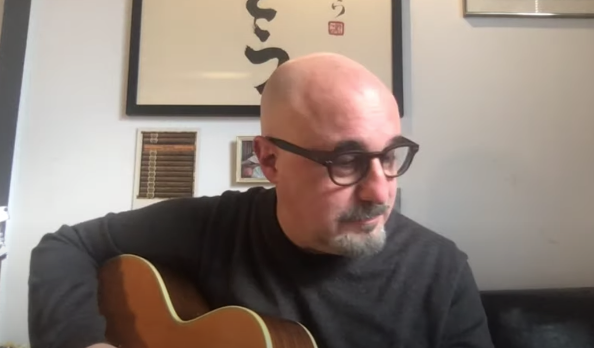 Jim Infantino playing live on YouTube from his sofa