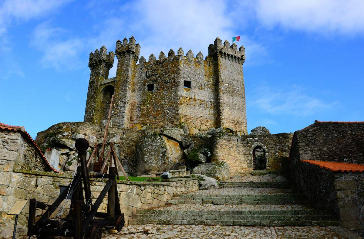 ancient castle with high walls