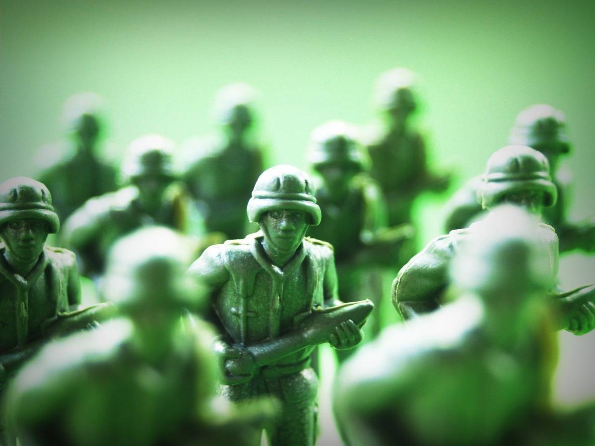 toy soldiers  one face featured
